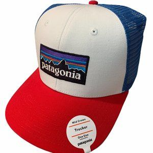 Patagonia Men's Mesh Trucker Hat New Red Blue New